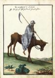 Occult Art Compendium Rarissimum, Folio 21: Illustration of the Grim Reaper on Horseback (c1766). Fine Art Print/Poster. Sizes: A4/A3/A2/A1 (004137)